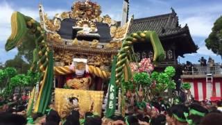 平成28年松原八幡神社宵宮(木場屋台宮入り)
