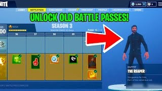 HOW TO SEE OLD BATTLE PASSES in GAME in FORTNITE SEASON 7....