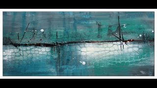 Abstract spontaneous painting, long version. Abstraktes Acrylbild, lange Version...