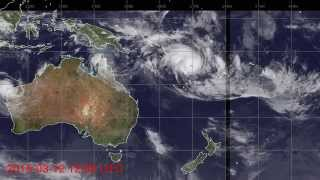 Satellite Images of Tropical Cyclone Pam