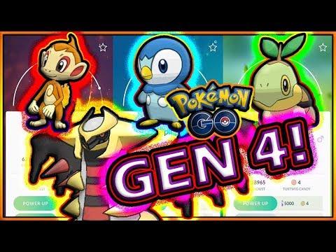 NEW LEGENDARY GIRATINA & GEN 4 SINNOH STARTERS IN POKEMON GO!