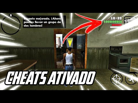 COMO COLOCAR CHEATS (CÓDIGOS) NO GTA SAN ANDREAS p/ ANDROID