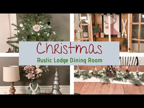 RUSTIC LODGE CHRISTMAS DECOR | CHRISTMAS DECORATING TIP | DECORATE WITH ME