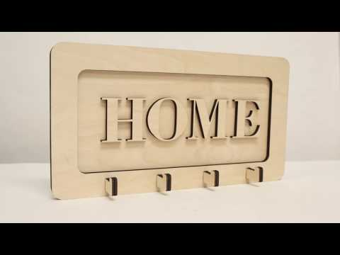 DIY Laser Cut Wood Key Hook/Hanger - Download File Free