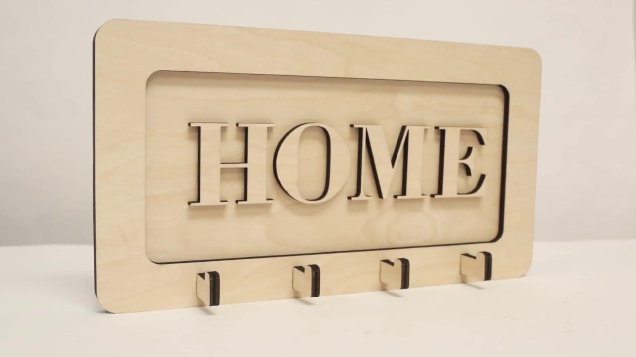 DIY Laser Cut Wood Key Hook/Hanger - Download File Free