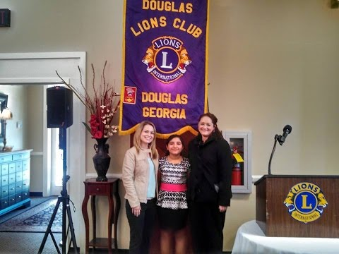 Natalie's presentation about her condition Best's Disease Douglas Lions Club 1/20/15