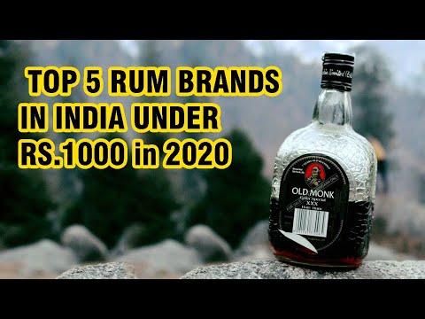 TOP 5 RUM BRANDS IN INDIA UNDER RS.1000 IN 2020