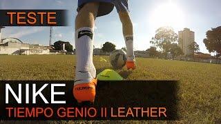 TESTE - CHUTEIRA CAMPO NIKE TIEMPO GENIO II EM COURO - Review Nike Tiempo Genio II Leather(Nesse video analisamos o material e testamos no campo se a CHUTEIRA DE CAMPO NIKE TIEMPO GENIO II - LEATHER, realmente vale a pena para compra!, 2016-05-31T23:16:02.000Z)