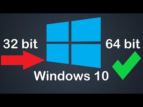 Как перейти с 32 Bit на 64 Bit Windows 10 без потери данных