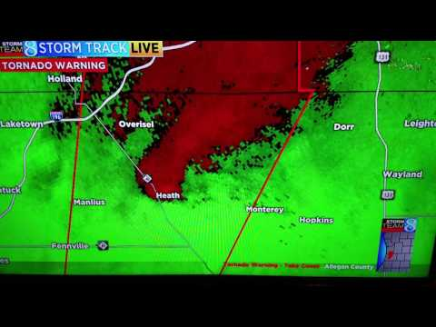 Live wood tv 8 coverage from 8-20-16 Tornado