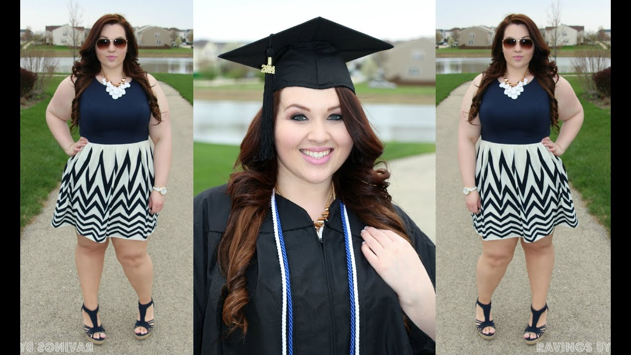 Plus Size OOTD: Navy Dress + My Graduation