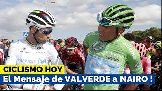 Mensaje de VALVERDE a NAIRO QUINTANA al finalizar la Vuelta a España 2019