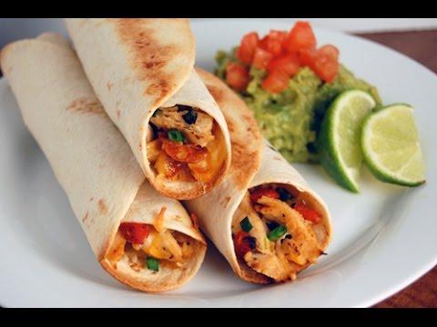 C mo hacer tacos de pollo picantes comida mexicana - Tacos mexicanos de pollo ...