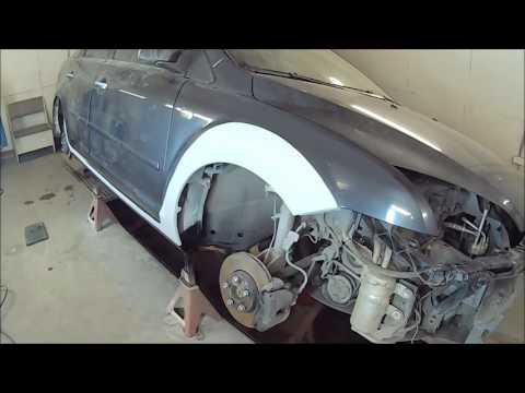 Ford Focus 2 наносим раптор на правый порг и готовим левый 5я часть
