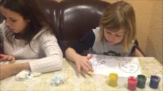 Творческий урок.Рисуем пальчиками.Разновозрастные дети.  Очень интересно и познавательно!