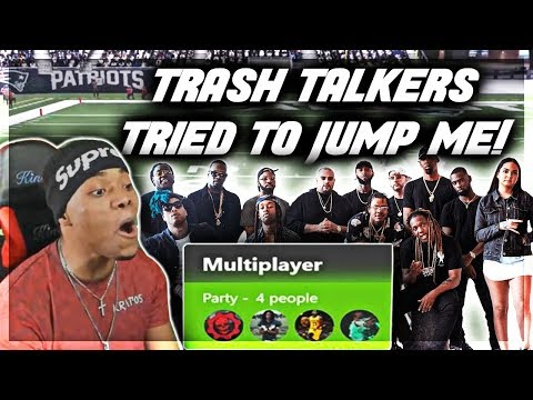 Madden 18 Trash Talk | WHOLE SQUAD PULLED UP ON ME! | Madden 18 Online Ranked Gameplay | Jmellflo