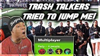 Madden 18 Trash Talk | WHOLE SQUAD PULLED UP ON ME! | Madden 18 Online Ranked Gameplay | Jmellflo
