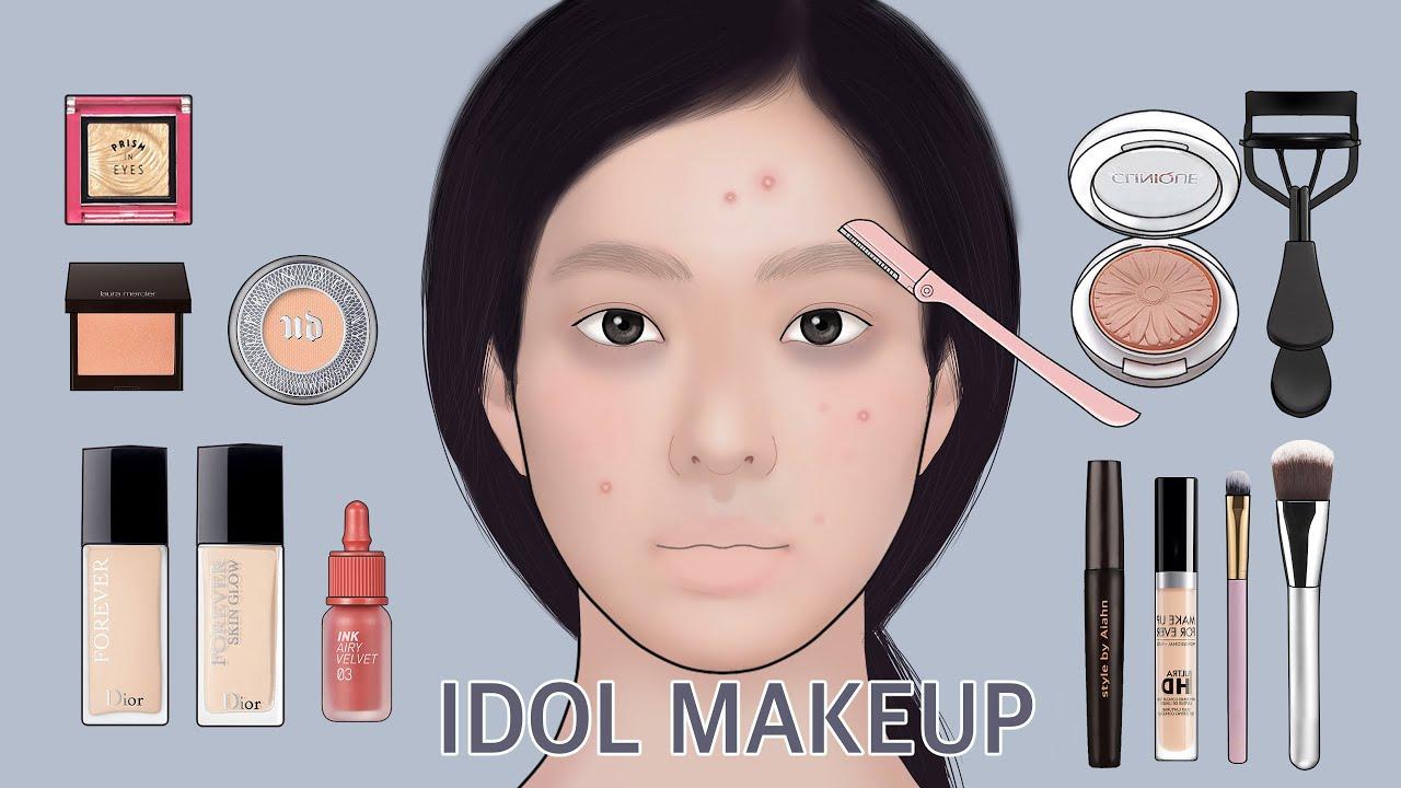 💄 k-pop Idol makeup tutorial / short video