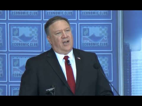 Secretary Pompeo IMPORTANT Speech in Detroit on Trade and the Economy