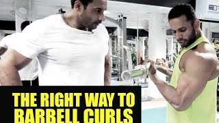 Right way to barbell curl