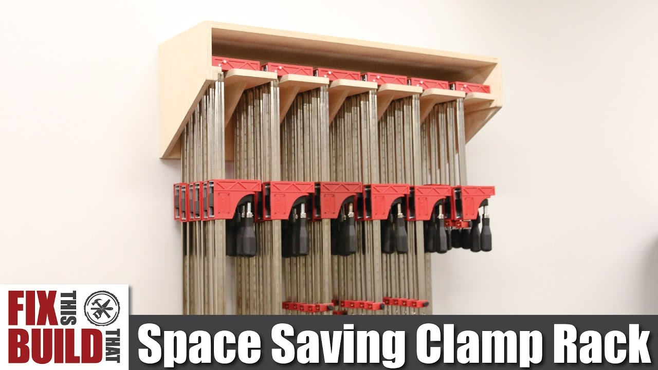 Space Saving Parallel Clamp Rack DIY Build Plans YouTube