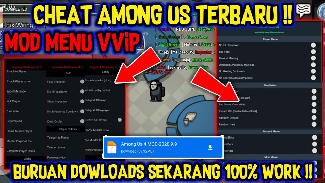 Cheat Among Us Terbaru Mod Menu VVIP !! Always Impostor,Radar Impostor & Banyak Fitur 100% WORK !!