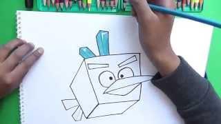 Dibujando a Pajaro de Hielo Bird (Angry Birds Space) - Drawing on ice Bird Bird
