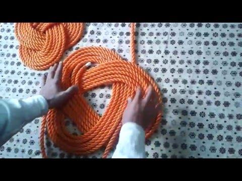 فن الحبال والعقد Marine knot  البوليط الثلاثي