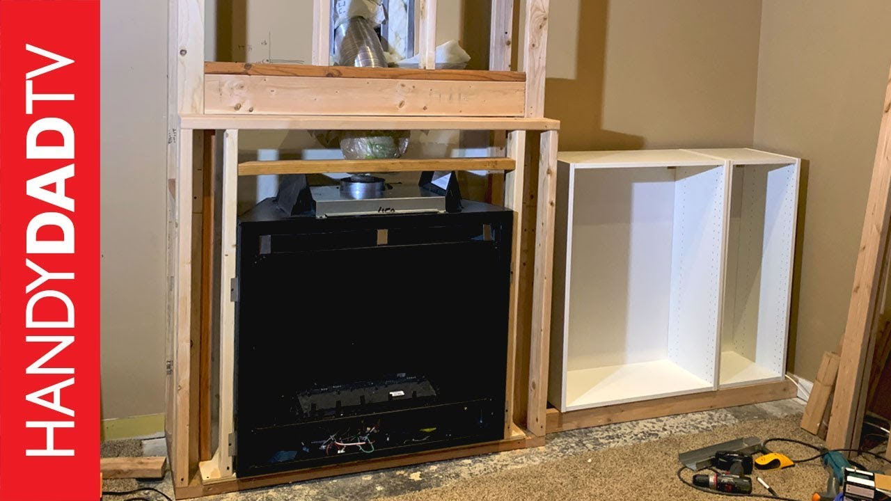 Diy Fireplace Installation Framing And Final Connections Youtube