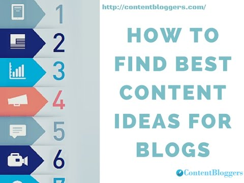 How to Find Best Content Ideas for Blogs