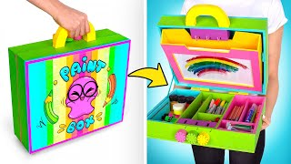 Colorful Cardboard Safe With Tools For A Real Artist!