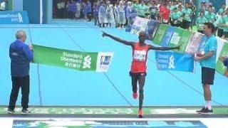 2019年香港馬拉松舉行 男女全馬選手雙雙破大會紀錄