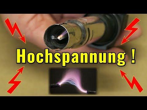 Hochspannung erzeugen - mit und ohne Transformator...