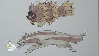 How to draw Pokemon: No. 263 Zigzagoon, No. 264 Linoone