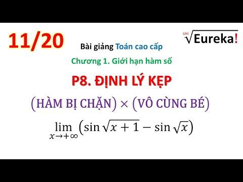 TCC Giải tích Chương 1 _P11/20. Giới hạn hàm số: Định lý kẹp - (hàm bị chặn)x(vô cùng bé)