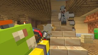 Minecraft Wii U - Nintendo Fun House - Nerf War [4]