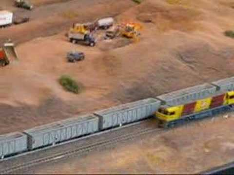 Model Railroader Shares Clip Of HO Model Trains In Desert