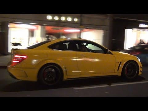 Mercedes C63 Black Series - REVS, Acceleration - MHP Exhaust