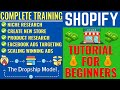 Shopify Tutorial For Beginners | Niche Research, Shopify Product Research, Facebook Ads Dropshipping