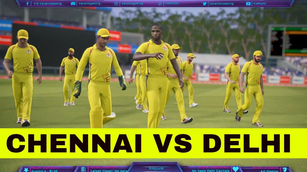 (CHENNAI vs DELHI) T20 Match Real Cricket 19 Live Cricket Score and Commentary | CSK VS DC