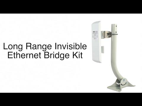 Long Range Invisible Ethernet Bridge Kit Demonstration