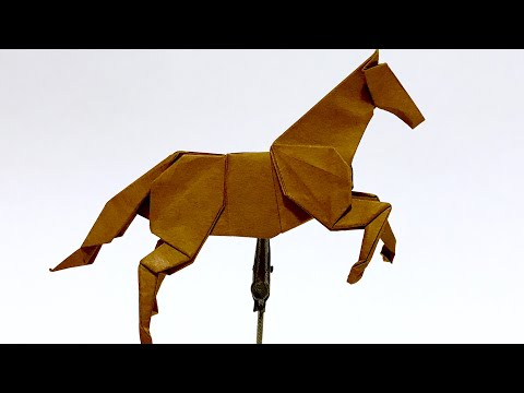 折り紙 馬 | ORIGAMI HORSE TWO PIECES