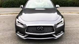 2017 infiniti q60 red sport awd 400hp video review