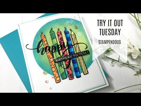 try-it-out-tuesday-/-stampendous-candle-wish-/-birthday-card