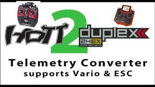 Hott2Duplex - Graupner ESC To Jeti Telemetry
