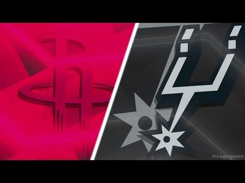 NBA 2K18 Gameplay - Houston Rockets vs San Antonio Spurs