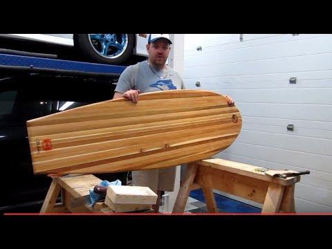 My Home Made Cedar Wakesurf Board