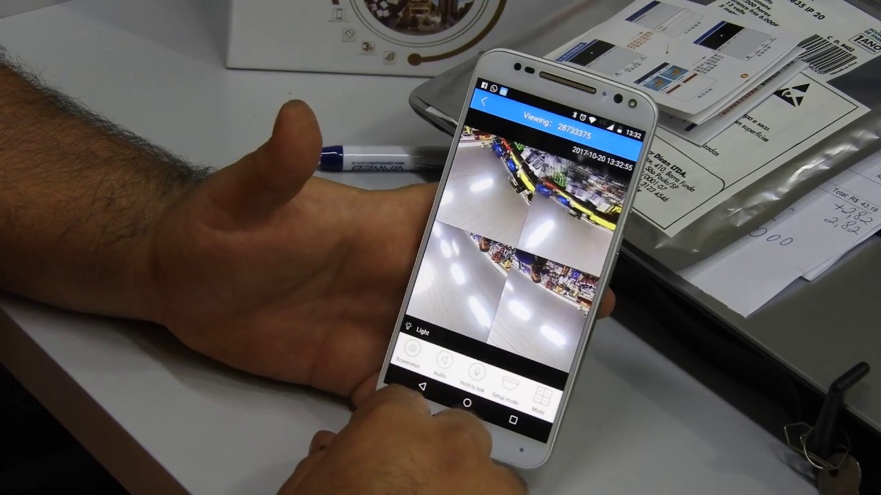 Tutorial de instalação de câmera camuflada APP V380 Sguario Eletrônicos