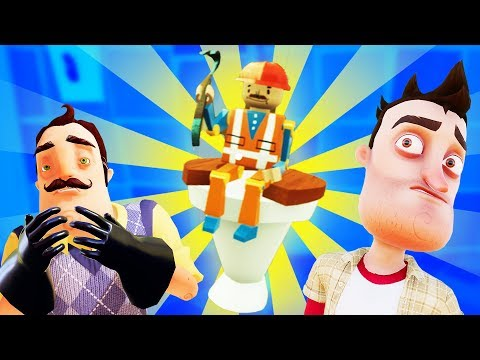TOY WORKER RESCUED from the NEIGHBOR'S BATHROOM! - Hello Neighbor Gameplay - Release