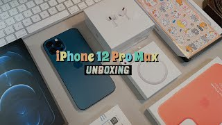 🍎 iPhone 12 Pro Max + Personalized AirPods Pro + Magsafe + Accessories Unboxing 🍏